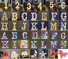 Alphabet Led Letter Lights Light Up White Colorful Plastic Letters Standing A-z