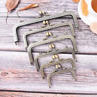Внешний вид - Bronze DIY Purse Handbag Handle Coin Bag Metal Kiss Clasp Lock Frame Hand ST