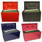 Lockable A4 Metal File Box Filing Storage inc / extra 5 Free Suspension Files