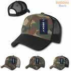 100 LOT Army Camouflage Camo Curve Bill Trucker Hats Hat Cap Caps WHOLESALE LOT