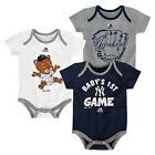 Outerstuff MLB New York Yankees Baby Infant 3 Piece Creeper Gift Set