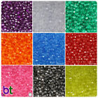 BeadTin Transparent 6mm Faceted Round Craft Beads 750pcs - Color choice