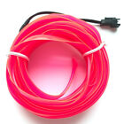 5M Car Flexible LED Neon Light Glow EL Strip Wire Rope With 12V Charger Adapter
