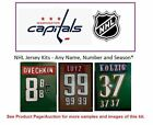 NHL Washington Capitals Lettering Custom Jersey Kit ANY YEAR Name Number UNSEWN