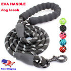 5FT Strong Dog Leash Climbing Rope Reflective Thread Night Safe Padded Handle US