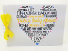 A5 Personalised Baby Shower Guest Book Boys Girls Unisex  protective covers ****
