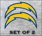 Los Angeles Chargers Sticker Decal Vinyl SET OF 2 Cornhole Truck Car $12.5 USD on eBay