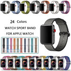 Woven Nylon Wrist Band Strap Bracelet For Apple Watch iWatch Series 4 40MM 44MM image