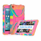 For 2016 Kindle Fire HD 8 Case Shockproof Defender Stand Cover Free Screen Guard