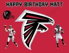 Atlanta Falcons Edible Print Premium Cake Toppers Frosting Sheets 5 Sizes $13.99 USD on eBay