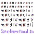 Taurus Star Sign Zodiac Collection Nail Art - Temporary  Tattoos - Stickers