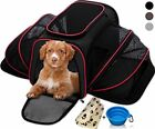 Airline Approved Pet Carrier for Small Dogs&Cats Expandable Soft /w Blanket&Bowl