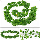 6.5 Ft Home Artificial Ivy Vine Leaf Garland Green Rattan Fake Foliage Flowers