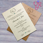 10 Wedding Invitations Evening Invites Handmade and Personalised Elegant Vintage