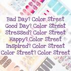 Used,  COLOR STREET 100% Nail Polish Strips- (Updated 8/17/19) FREE SHIPPING! for sale  Copperas Cove