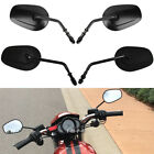 Black Motorcycle Long/Short Stem Rearview Mirrors For Harley Night Rod Fatboy MT $39.6 USD on eBay