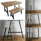 Handmade Rustic Industrial Barn Reclaimed Bespoke Desk Dining Table and Bench