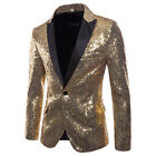 NEW Men&#039;s  Sequins Clubs Wedding Party Tuxedo Dinner Formal Suit Jacket Coat <br/> ❤3-7 Days Fast Ship❤Top Quality❤Wholesale Price❤