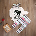 Brand New Baby Girls Outfit 3 Piece Little Peanut Elephant Romper Dress Clothing