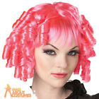 Adult Gothic Broken Doll Hot Pink Wig Halloween Ladies Womes Dolly Fancy Dress