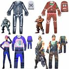 Kids Boys Girls Fortnite Cosplay Costume Fancy Halloween Party Jumpsuit Outfits