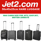 Jet 2 Easyjet 56x45x25 Max Grand Cabine Main Carry Valise Bagage Sac de Voyage