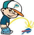 Miami Dolphins Piss On Buffalo Bills NFL Color Vinyl Decal Choose SIZES $8.49 USD on eBay