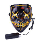 Halloween Scary Mask Cosplay Led Costume Mask EL Wire Light Up The Purge Movie