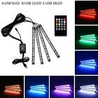 12led Car Interior Strip Light Rgb Color Remote Control Footwell Atmosphere Lamp