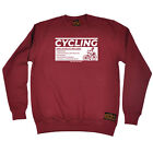Cycling Sweatshirt Funny Novelty Jumper Top - Cycling Side Effects