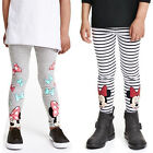 Toddler Girls Kids Stripe Minnie Mouse Print Leggings Pants Casual Trousers 2 7Y