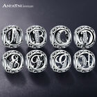 Pandora Charm ALL LETTERS Sterling Silver Bangle Bracelet Charms Beads