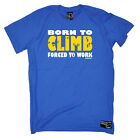 Rock Climbing T-Shirt Funny Novelty Mens tee TShirt - Born To Climb