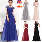Uk Women Lace Maxi Dress Formal Wedding Bridesmaid Evening Party Ball Prom Gown