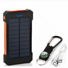Waterproof Solar Charger 500000mAh Power Bank Fast Charging 2 USB Battery Pack