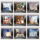 Christmas Printing Pillow Case Polyester Sofa Car Back Cushion Cover Home Decor
