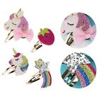Fashion Unicorn Rainbow Hair Clips Snaps Hairpin Girls Baby Kids Hair Bow Gift