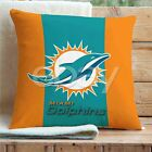 Miami Dolphins Custom Pillows Car Sofa Bed Home Decor Cushion Pillow Case on eBay