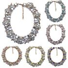 Women Chain Jewelry Statement Bib Chunky Choker Necklace Crystal Pendant