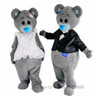 Grey Teddy Bear Mascot Costume Cosplay Party Game Dress Game Adults Parade Suits
