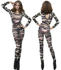 Fever Bodysuit Camouflage Cheetah Catsuit Smiffys Army Animal Print Size 6-14