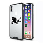 For Apple iPhone X XS Max XR Clear Shockproof Bumper Case Bearded Dragon Lizard
