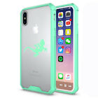 For Apple iPhone X XS Max XR Clear Shockproof Bumper Hard Case Gecko Lizard