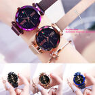 Luxury Starry Sky Watch Magnet Strap Free Buckle Stainless Steel Women US K5X4C image