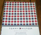 Tommy Hilfiger Red White & Blue Checked Cotton Tablecloths or Runners--NWT