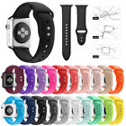 Silicone Soft Replacement  Wrist Sport Band Strap For Apple Watch Series 4 38/42 image