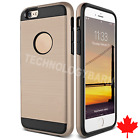 Brushed Luxury 2 in 1 Hybrid Protective Case Cover