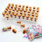 Kyпить 12~36x 1ML Clear Small Glass Bottles Cork Stopper Mini Vial Containers Empty на еВаy.соm