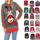 Christmas Jumper Sweater Unisex Women Men Knitted Rudolph Retro To The Pub Xmas