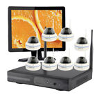 8CH CCTV Home Security Dome Camera System Wireless with Hard Drive& Monitor CA